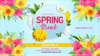 Spring Break Banner Template 2021 Twitter Post