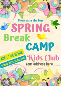 Spring Break Camp A 4 size A4 template