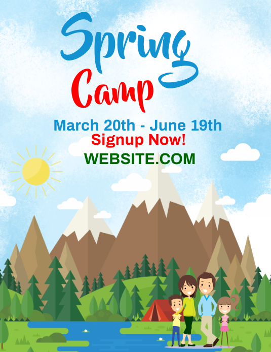 Spring Break Camp Flyer Template  Postermywall