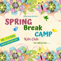 Spring Break Camp Instagram Post template