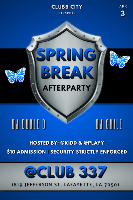 SPRING BREAK CLUB FLYER 海报 template