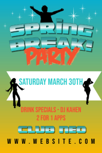 Spring Break Club Party Flyer