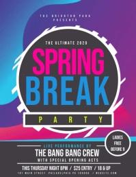 Spring Break Volantino (US Letter) template