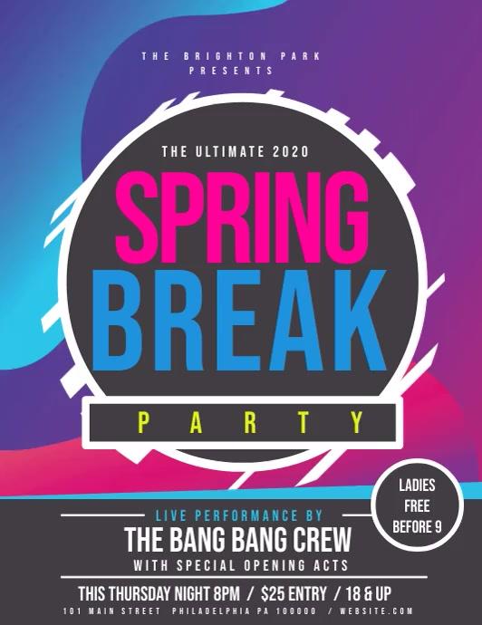 Spring Break Volante (Carta US) template