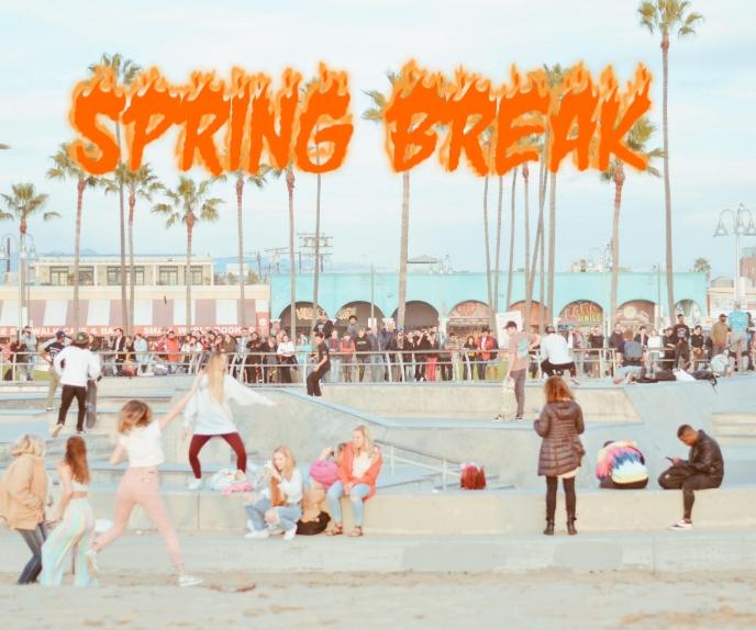 spring break Stort rektangel template