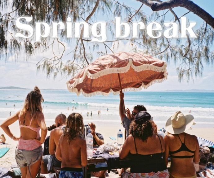 spring break Retângulo médio template