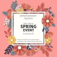 Spring break Instagram-Beitrag template