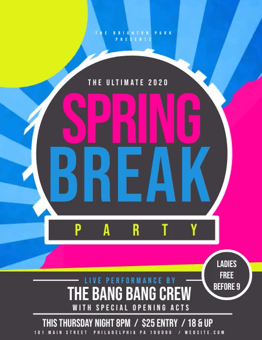 Spring Break Flyer (US Letter) template