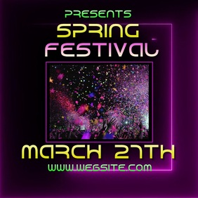 SPRING BREAK fest festival ad video digital Logo template