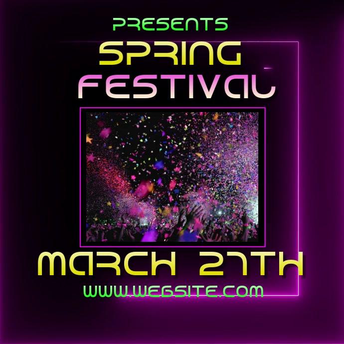 SPRING BREAK fest festival ad video digital Logo template