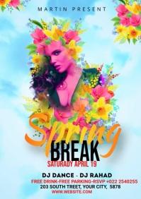 Spring Break Flyer Ads A4 template