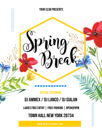 Spring Break Flyer Pamflet (Letter AS) template