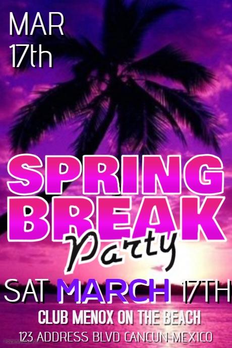 spring break poster templates