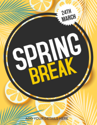 Spring break flyers template