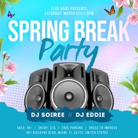 Spring Break Instagram Image template