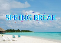 SPRING BREAK LOGO TEMPLATE A4