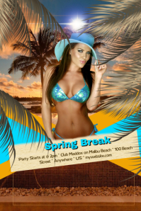 Spring Break on Malibu Beach Flyer