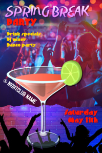 Spring Break or Dance Club Poster