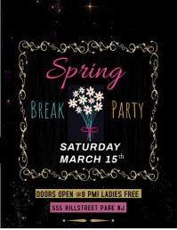 Spring Break Party Flyer (US Letter) template