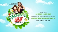 Spring Break Party Publicación de Twitter template