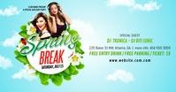 Spring Break Party delt Facebook-billede template