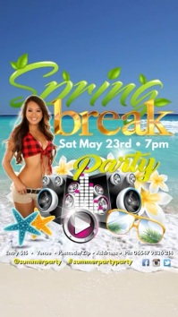 Spring Break Party Digitale display (9:16) template