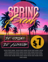 SPRING BREAK PARTY EVENT FLYER Template