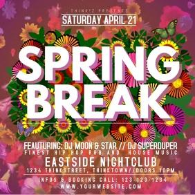 Spring Break Party Event Video Flowers Video Advert Promo