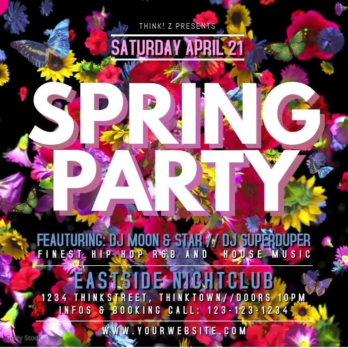 Spring Break Party Event Video Flowers Video Advert Promo