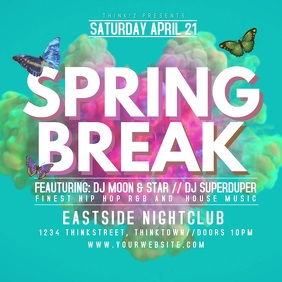 Spring Break Party Event Video Splash Video Advert Promo