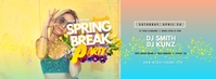 Spring Break Party Facebook Cover Photo Facebook-omslagfoto template