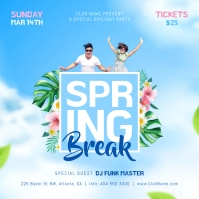 Spring Break Party Instagram Image template