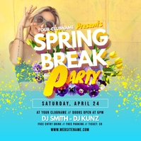 Spring Break Party Instagram Post template