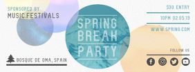 Spring Break Party Invitation Banner for Facebook template