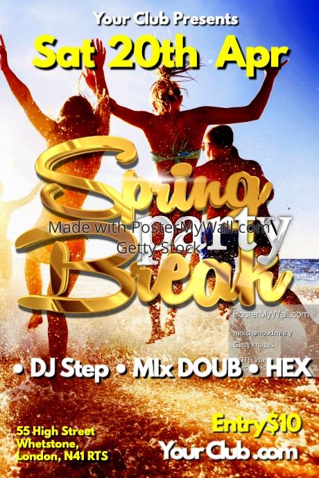Spring Break Party Poster