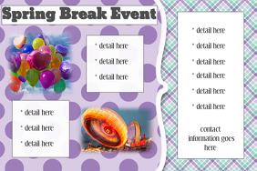 Spring Break Party Summer Baby announcement invitation
