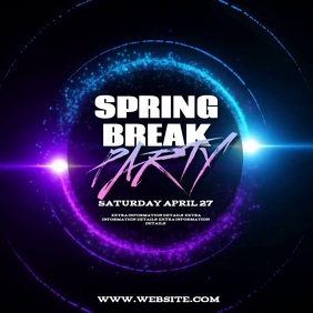 SPRING BREAK PARTY TEMPLATE Square (1:1)
