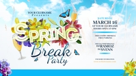 Spring Break Party Twitter Post Wpis na Twittera template