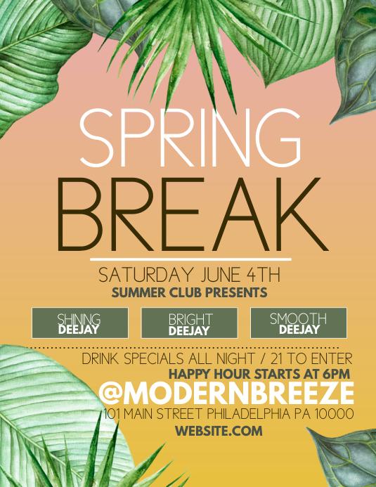 Spring Break Pamflet (VSA Brief) template