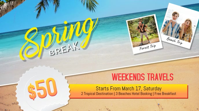 Spring Break Promo Video Template