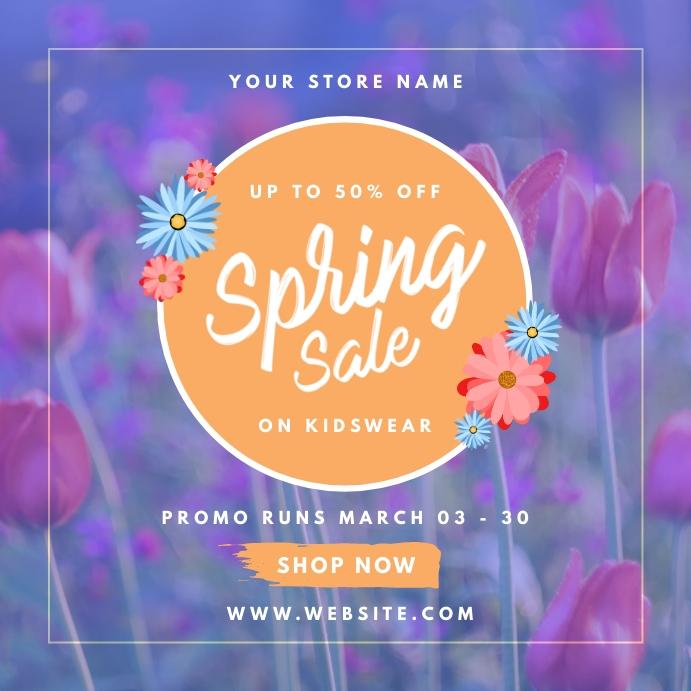 Spring Break Sale Ads Instagram-opslag template