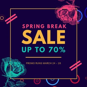Spring Break Sale Advert Square (1:1) template