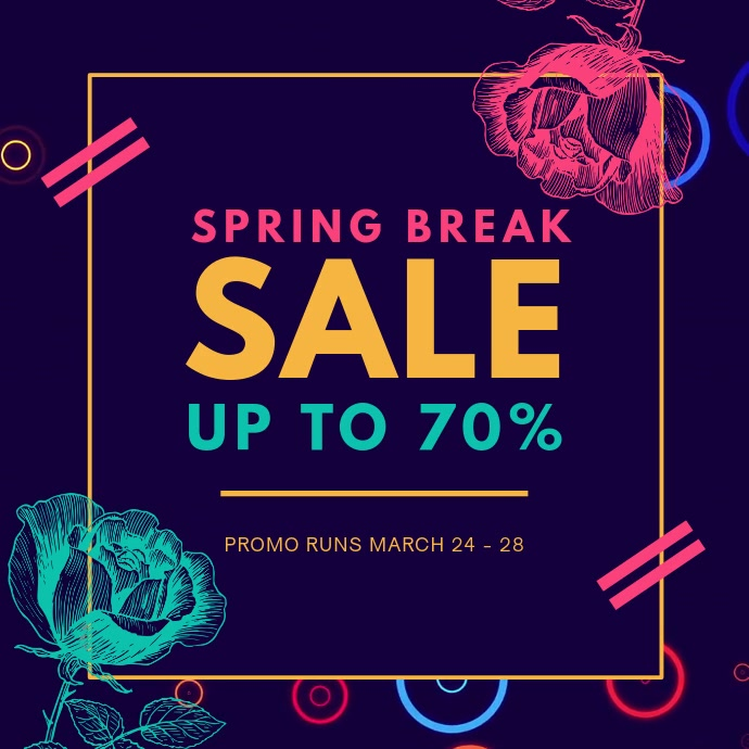 Spring Break Sale Advert Kvadrat (1:1) template