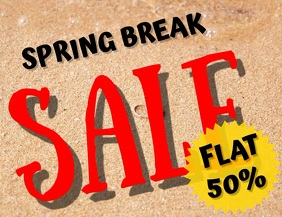 Spring break Sale Folheto (US Letter) template