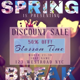 spring break SALE event