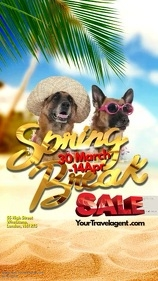 Spring Break Sale Instagram video template