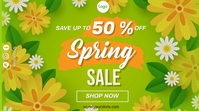 Spring Break Sales Digitale display (16:9) template
