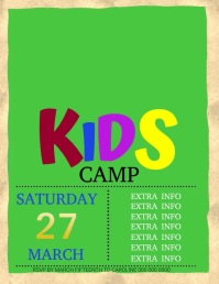 SPRING BREAK SUMMER CAMP FLYER Template