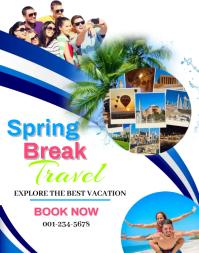 Spring Break Travel Poster/Wallboard template