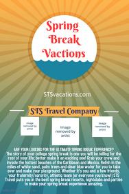 Spring Break Travel Poster Flyer